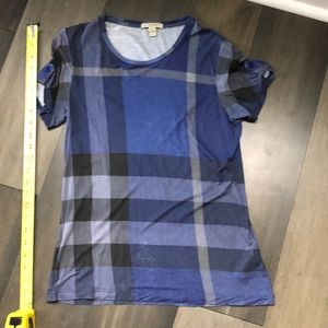 Burberry Brit T-Shirt in blue/black Nova Check - M